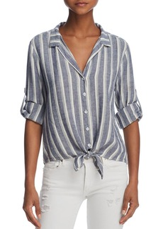 Bella Dahl Striped Tie-Front Button-Down Shirt - 100% Exclusive