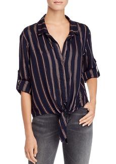 Bella Dahl Striped Tie-Front Shirt