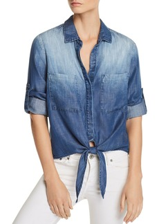 Bella Dahl Tie-Front Chambray Shirt