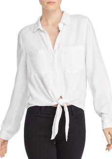 Bella Dahl Tie-Hem Button-Down Shirt