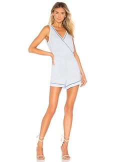 Bella Dahl Trimmed Cross Front Romper