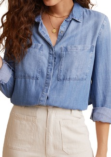 Bella Dahl Two Pocket Chambray Button-Up Shirt