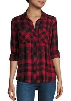 Bella Dahl Two-Pocket Plaid Shirt