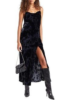 Bella Dahl Cowl Neck Bias Seamed Slip Dress
