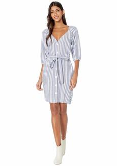 Bella Dahl Elastic Neck Shirred Dress