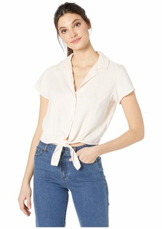 Bella Dahl Fitted Cap Sleeve Tie Up Shirt