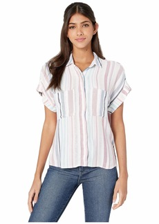 Bella Dahl Florence Stripe Cap Sleeve Button-Down Top