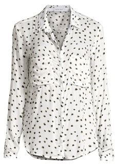Bella Dahl Hipster Collared Print Shirt