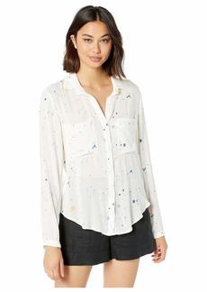 Bella Dahl Paint Splatters Print Hipster Shirt