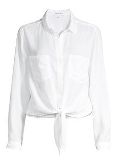 Bella Dahl Patch Pocket Tie Front Shirt