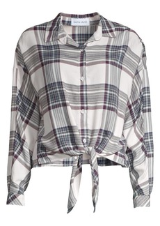 Bella Dahl Plaid Tie-Front Shirt
