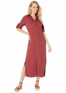 Bella Dahl Pocket Duster Dress in Crosshatch Tencera