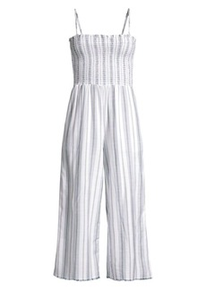 Bella Dahl Smocked Bodice Striped Jumpsuit