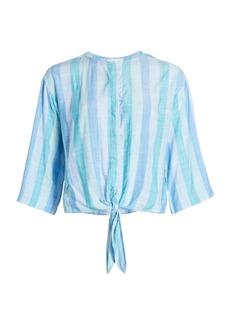 Bella Dahl Striped Tie Front Top