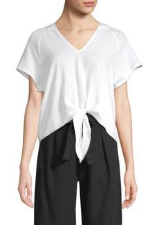 Bella Dahl Tie-Front Hoodie