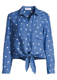 Bella Dahl Tie-Front Linen & Cotton Shirt