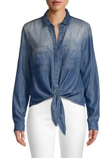 Bella Dahl Tie-Front Pocket Shirt