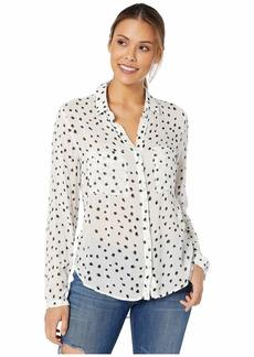 Bella Dahl Two-Color Dot Print Hipster Shirt