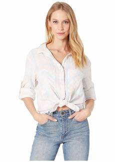 Bella Dahl Two-Pocket Frayed Hem Shirt