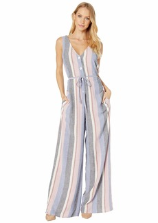 Bella Dahl V-Neck Button Front Jumpsuit