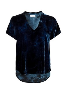 Bella Dahl Velour High-Low Tee
