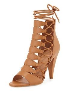 Belle Sigerson Morrison Belle By Sigerson Morrison Magola Leather Lace-Up Sandal