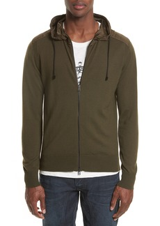 Belstaff Aldington Mixed Media Full Zip Hoodie