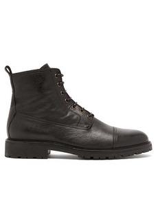 Belstaff Alperton grained-leather lace-up boots