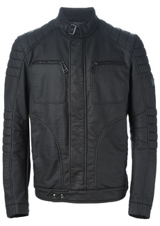Belstaff band collar biker jacket - Black