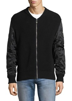 Belstaff Bossington Mixed Media Sweater