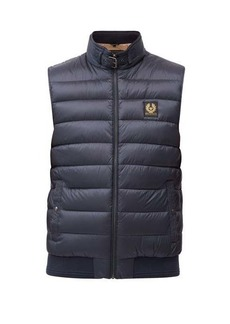Belstaff Circuit logo-patch quilted down gilet