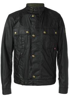 Belstaff coated patch pocket jacket - Black
