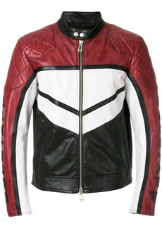 Belstaff colour-block zipped jacket - Black