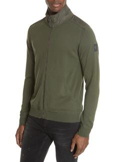 Belstaff Coombe Wood Merino Wool Zip Sweatshirt