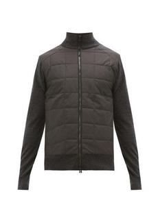 Belstaff Kelby quilted-panel zip-through wool cardigan