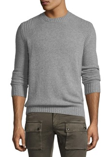 Belstaff Lanson Virgin Wool-Cashmere Crewneck Sweater