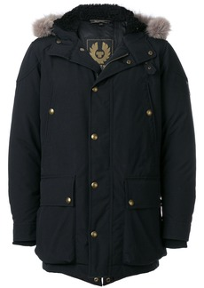 Belstaff lined hood padded coat - Black