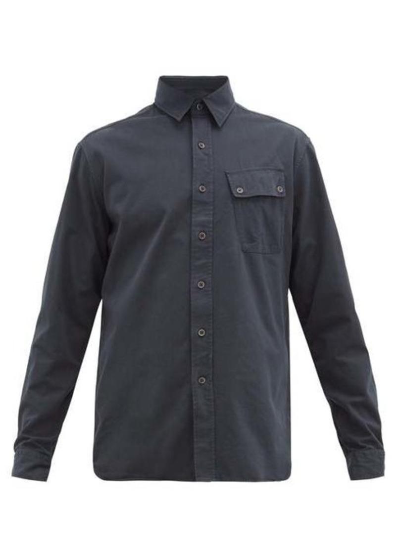Belstaff Logo-patch brushed cotton-twill shirt