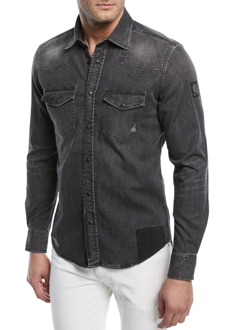a7621ad40f Belstaff Belstaff Southcott Western Denim Shirt