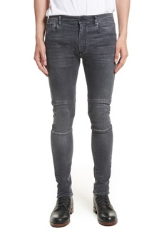 Belstaff Tattenhall Washed Denim Skinny Jeans (Charcoal)
