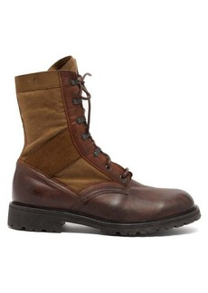 Belstaff Trooper leather and canvas boots