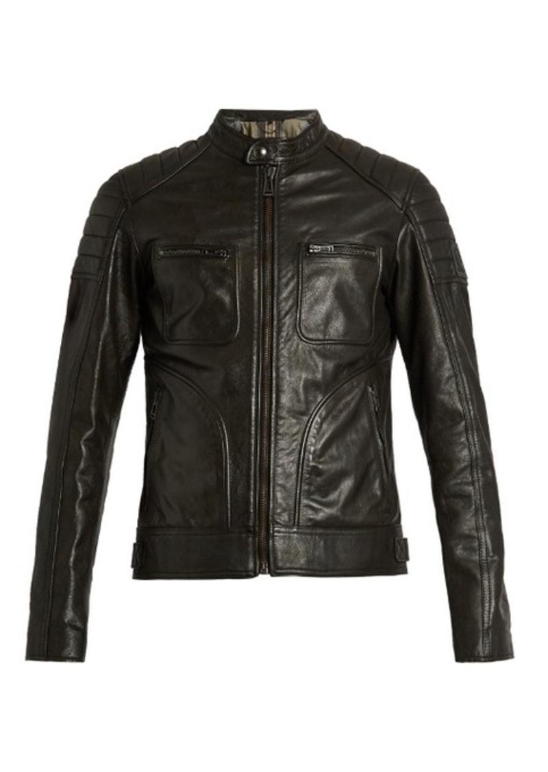 belstaff belstaff weybridge waxed leather biker jacket outerwear shop it to me. Black Bedroom Furniture Sets. Home Design Ideas