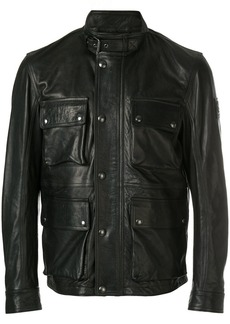 Belstaff zipped biker jacket - Black