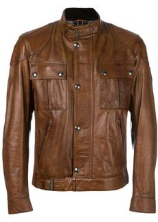Belstaff zipped biker jacket - Brown