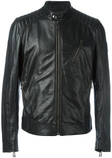 Belstaff zipped leather jacket - Black