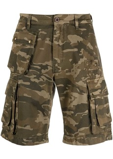 Belstaff camouflage print cargo shorts