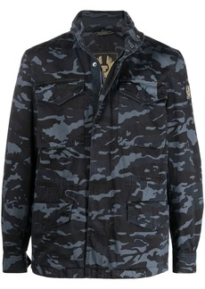 Belstaff camouflage-print concealed cotton jacket