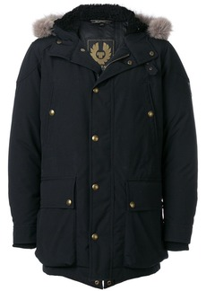 Belstaff lined hood padded coat