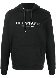 Belstaff logo-print drawstring hoodie