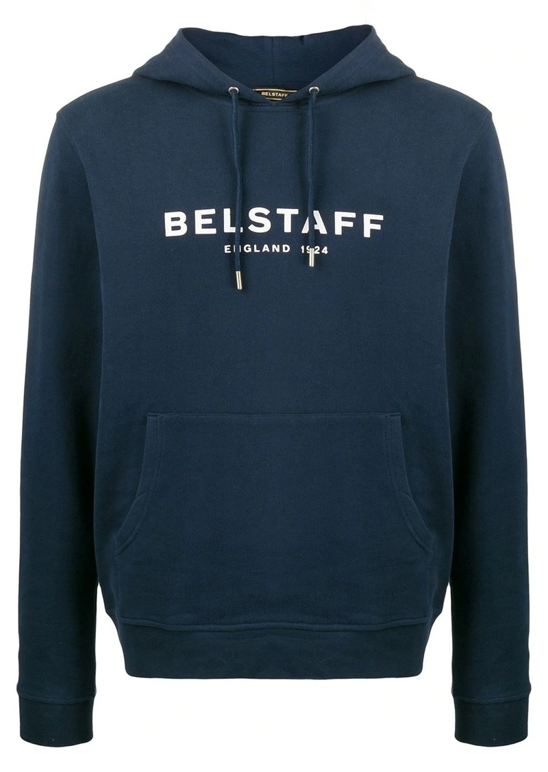 Belstaff logo print fitted hoodie